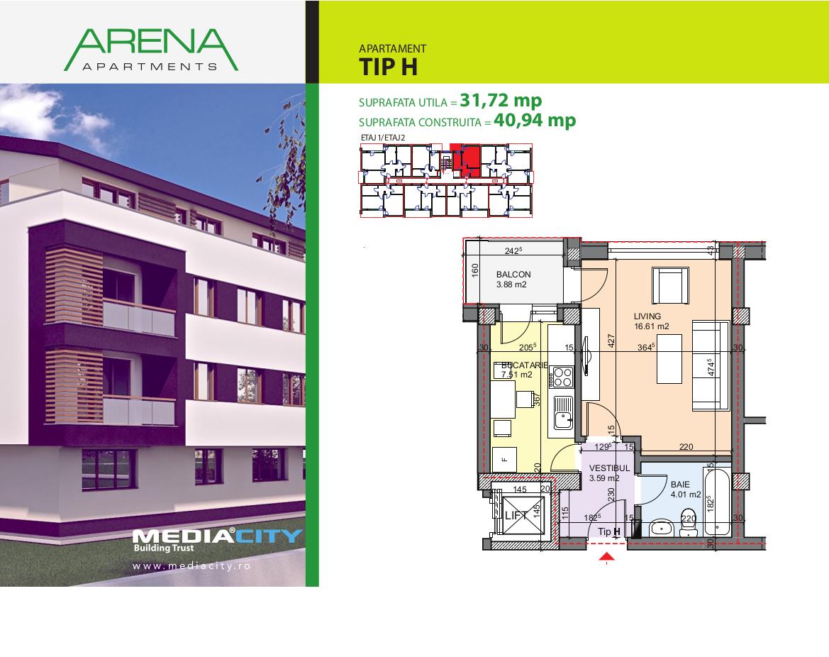 Apartament Tip H